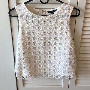 White lace crop top - size XS